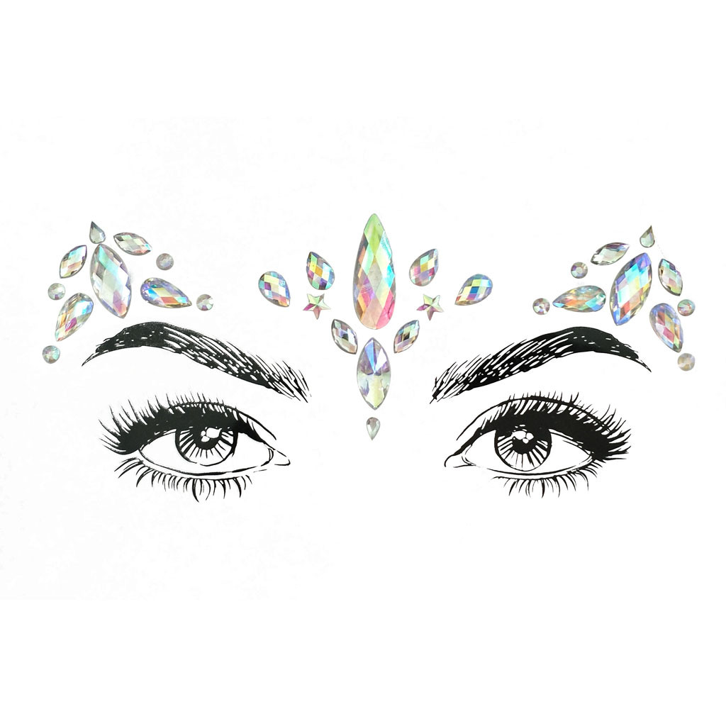 Stick Drill Forehead Tattoo Face Gems Adhesive Glitter Jewel Tattoo Wedding Festival Rave Party Body Make Up