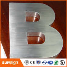 Brushed stainless steel 3D channel letter - DISCOUNT ITEM  0% OFF All Category
