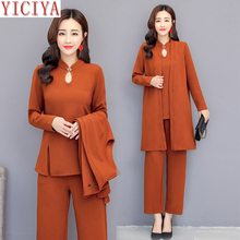 YICIYA 3 piece suit women outfits co-ord set 2 pants suits and top winter autumn clothes elegant plus size 4xl 5xl