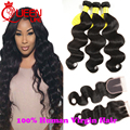 Malaysian Virgin Hair With Closure 3 Bundles Human Hair With Closure Alipearl Hair Products Malaysian Body Wave With Closure