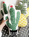 Green Cactus Linen Pillow Kids Educational Plants Fruits Cushion Cotton Baby Room Decor Child Stuffed Soft Newborn Bed Gift 1pcs