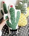 Verde Cactus Plantas Frutas Cojín de Algodón Lino Almohada Kids Educational Baby Room Decor Niño Recién Nacido Cama de Peluche Suave Regalo 1 unids