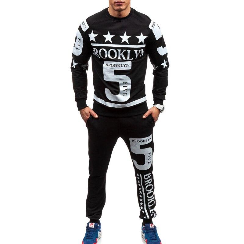 ZOGAA мужской повседневный спортивный костюм с модным принтом, комплект из двух предметов, Chandal Hombre Psg, спортивный костюм для мужчин, спортивный костюм