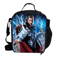 2015 Cute Cartoon Character Lunch Bag For Kids The Avengers Superhero Ironman Thor Lunch Bag Thermal Cooler For School Boys