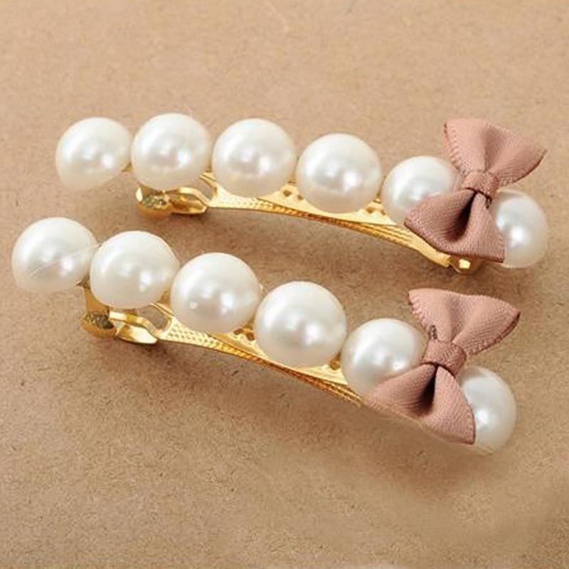 1Pcs Fashion Girls Women Hair Accessories Pearl Hairgrips   Headwear   Gifts Cute Hollow Kitty Cat Hair Clip Barrette Hairpin