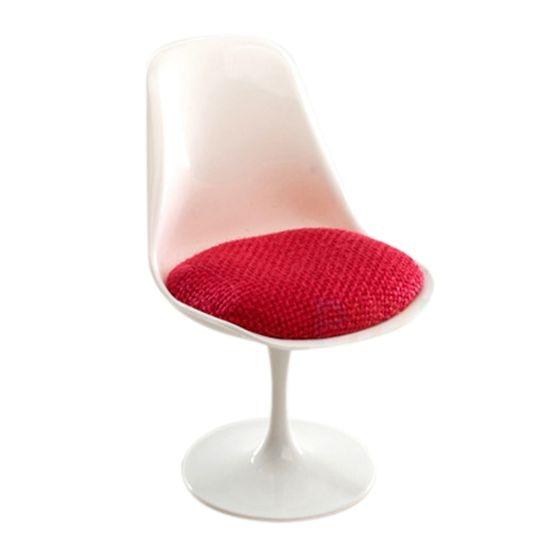 Abwe Beste Koop 1:12 Schaal Tulip Chair Draaistoel Voor Poppenhuis Miniatuur Decor 2 Kleur