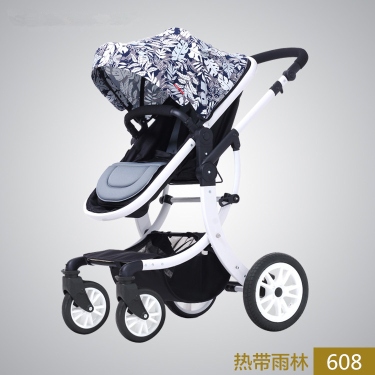 Emile Baby Stroller, Aimile Exit, High Landscape, Four Seasons Folding Shock Absorbers, Can Lie, Bb Cart, Summer high landscape baby stroller can sit and lie in a folding baby four seasons universal newborn baby summer baby stroller