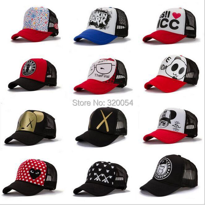 1 Pcs 2015 New The Spring Fashion Baseball Cap Men And Women Cartoon Truck Mesh Hat Adjustable Size Free Shipping мужские футболки