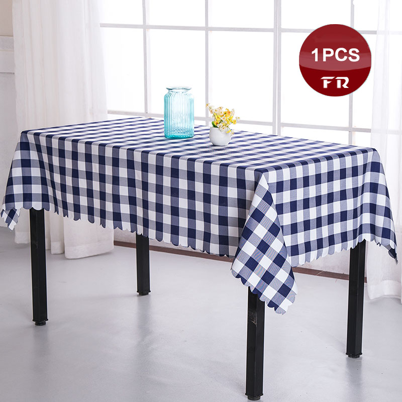 Captivating Factory Direct Sale 1PC Table Cloth Polyester Plaid Decor Table Linen Cover  For Wedding Party Home