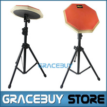 "8"" Beginner Silent Practice Drum Pads With Stand Drumming Practise Dumpad Set For Drummers Gift 1 Pair Drumsticks 20 D"