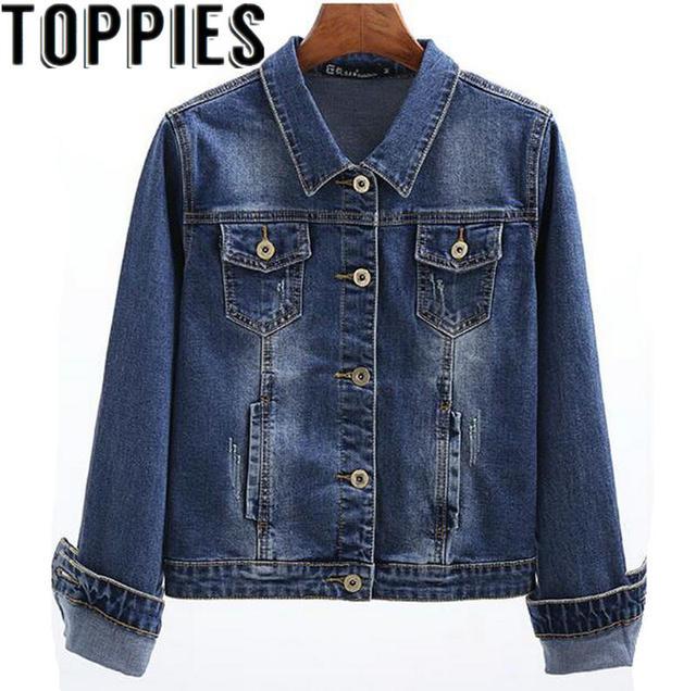 2019 ג 'ינס מעיל מעיל נשים גותי ארוך שרוולים Slim ז' אן מעילי קצר מעיל