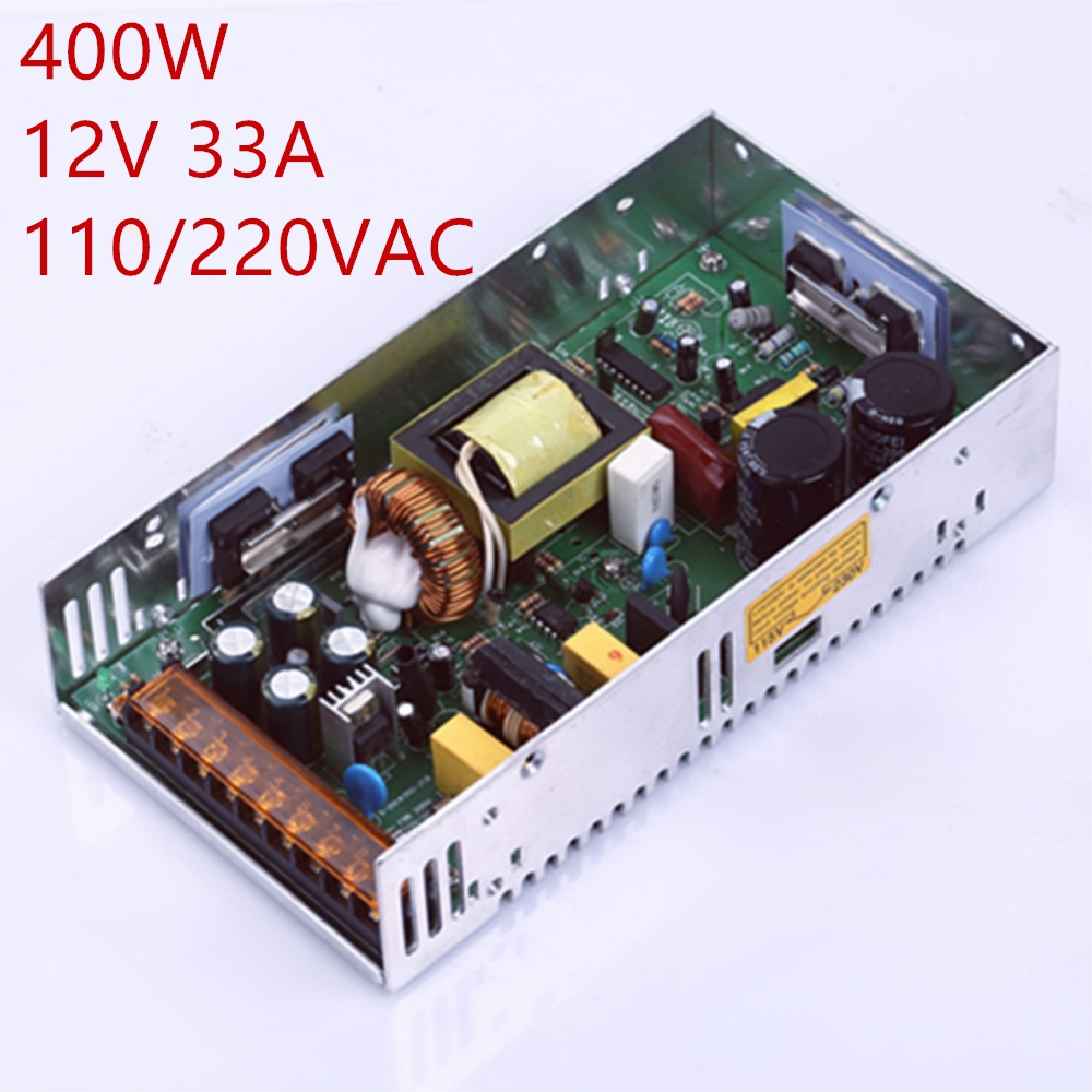 где купить 1PCS 400W 33A 12V power supply 12V 33A centralized power supply AC-DC 110-230VAC S-400-12 DC12V дешево