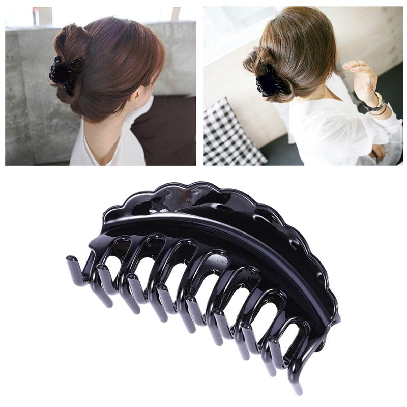 Coffee Large Hair Claw Clip Clamp Salon Hairdressing Womens Hair Accessory