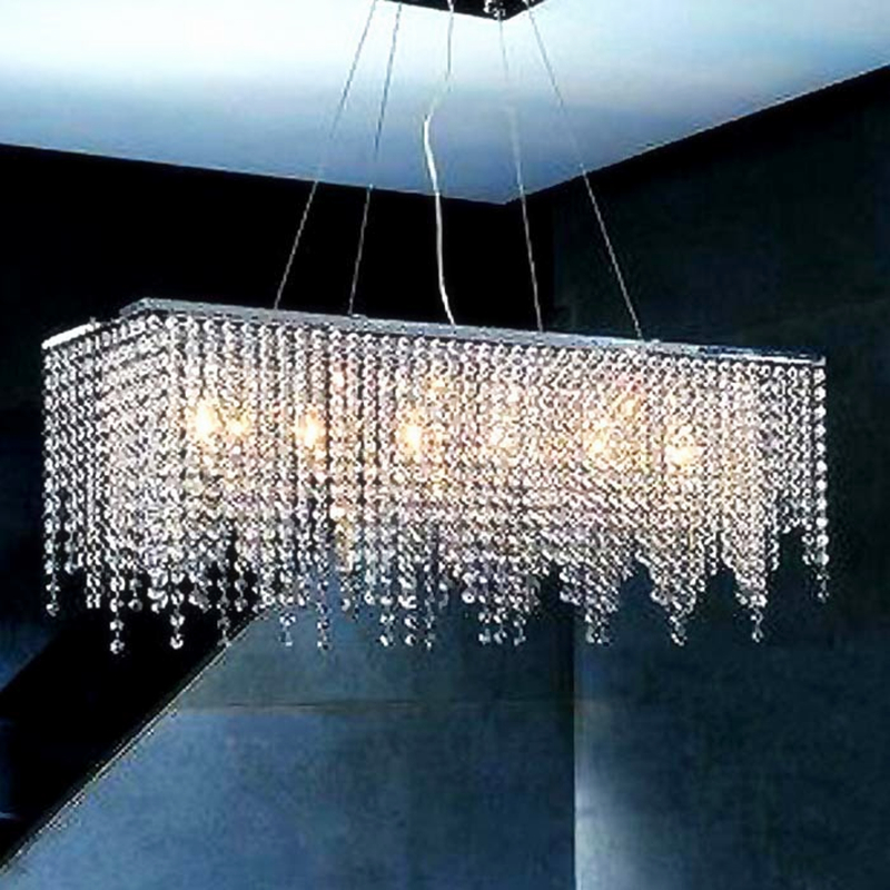 Modern Crystal Chandelier Light for dining room led crystal chandeliers Square lamp rectangle living room lights curtain lights modern crystal chandelier light for dining room e14 crystal chandeliers living room round lights curtain lights wpl091