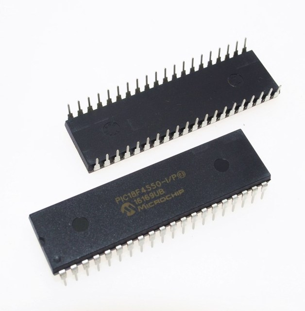 PIC18F4550 I/P PIC18F4550 18F4550 USB Microcontrollers DIP40 IC PIC MCU FLASH 16KX16 NEW