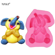 Gadgets-Elephant - silicone  for soap and candles making molds Elephant African Animal Silicone Rubber Flexible Food mold