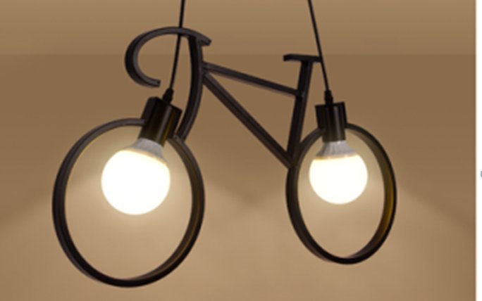 Modern Vintage  fixtures Lamp Retro Edison Light indoor lighting Iron bicycle Loft Pendant Lighting LED E27