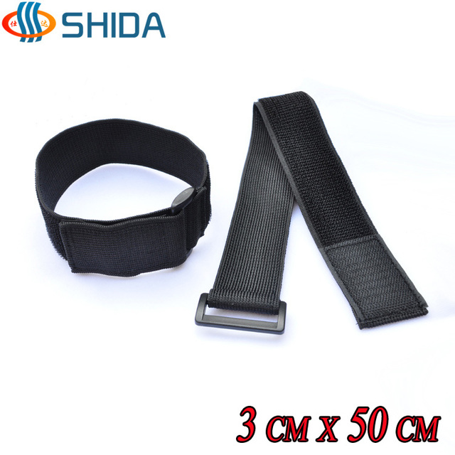 14cd36a4b171 10pcs 3*50CM Stretch Elastic Cable Ties Hook and Loop Magic Tapes for Wire  Management
