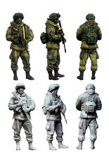 [tuskmodel] 1 35 scale resin model figures kit Modern Russian Soldiers e3(China)