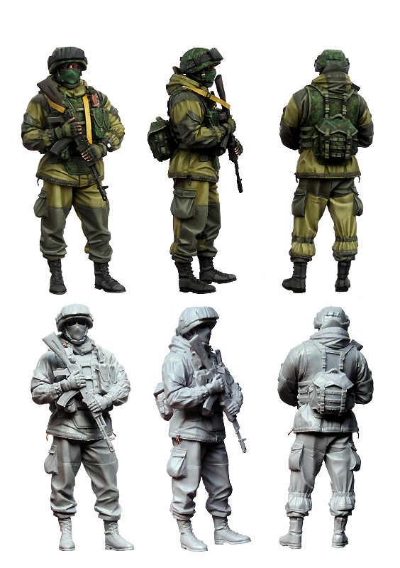 [Tuskmodel] 1 35 schaal resin model cijfers kit Moderne Russische Soldaten e3