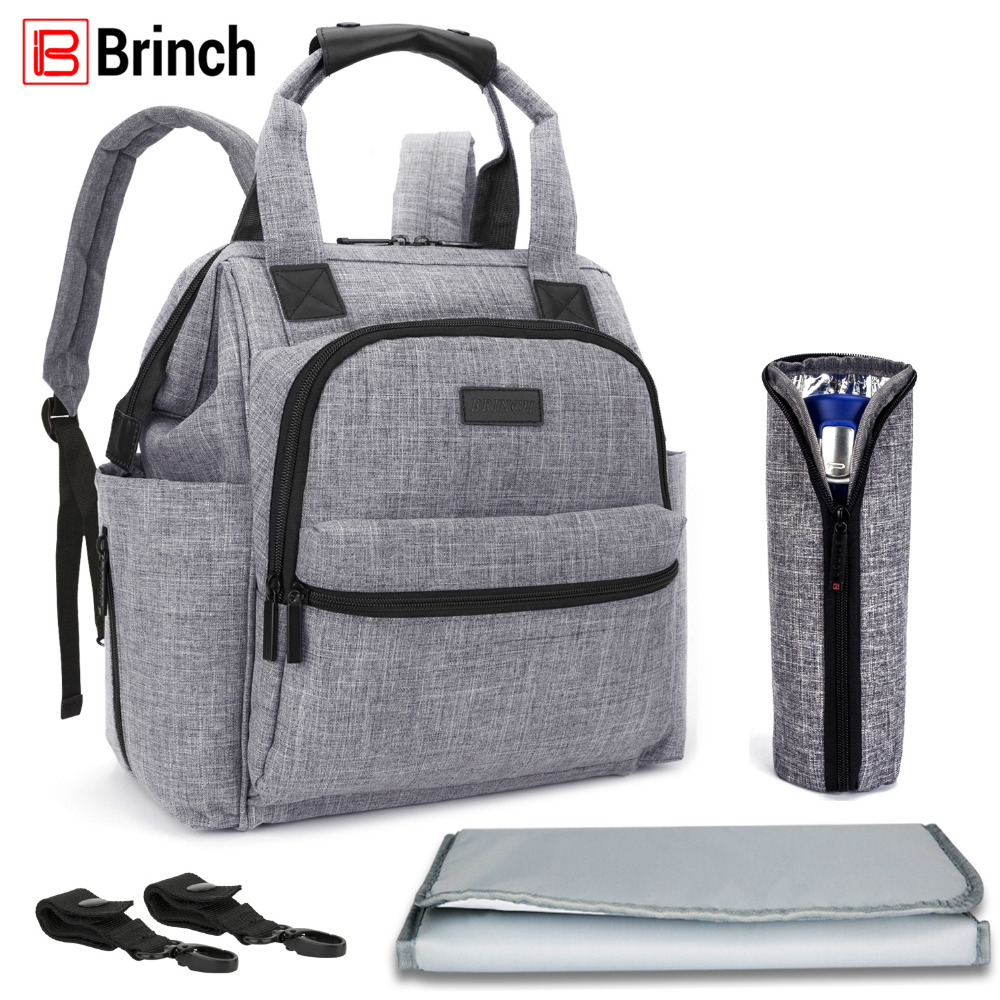 buy brinch multifunctional diaper bag for mother baby nappy bag backpack large. Black Bedroom Furniture Sets. Home Design Ideas