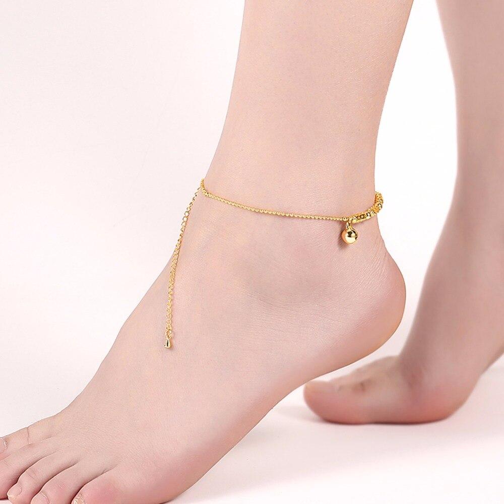 Cute Small Silver Bell Anklet Bracelet for Women Girls Leg ...