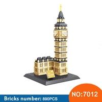 WANGE 7012 Architecture 3D DIY Big Ben Building Blocks Sets City Bricks Classic Skyline Model Kids Gift Toys For Children