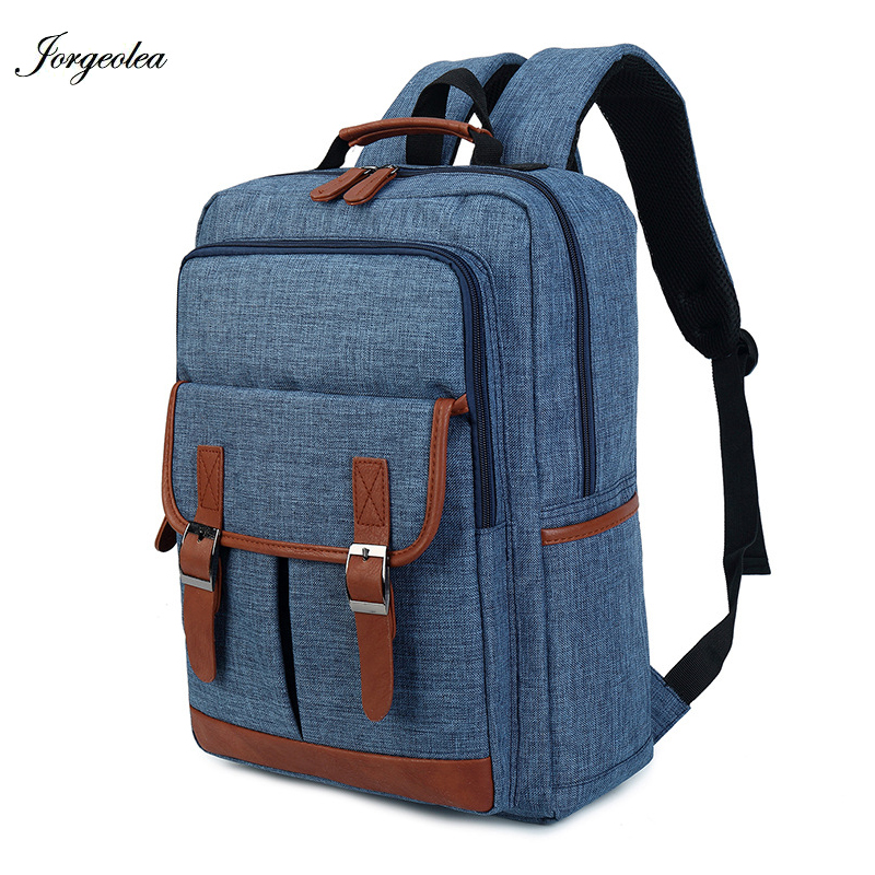 Jorgeolea Solid Large Capacity Backpack England Style Men or Women Shoulders Bag Satchel Bag Business Style Back pack 0123