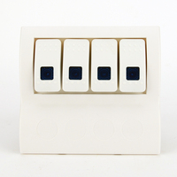 Water Resistant Marine Switch Panel Circuit Breaker With Blue Led 4 Gang