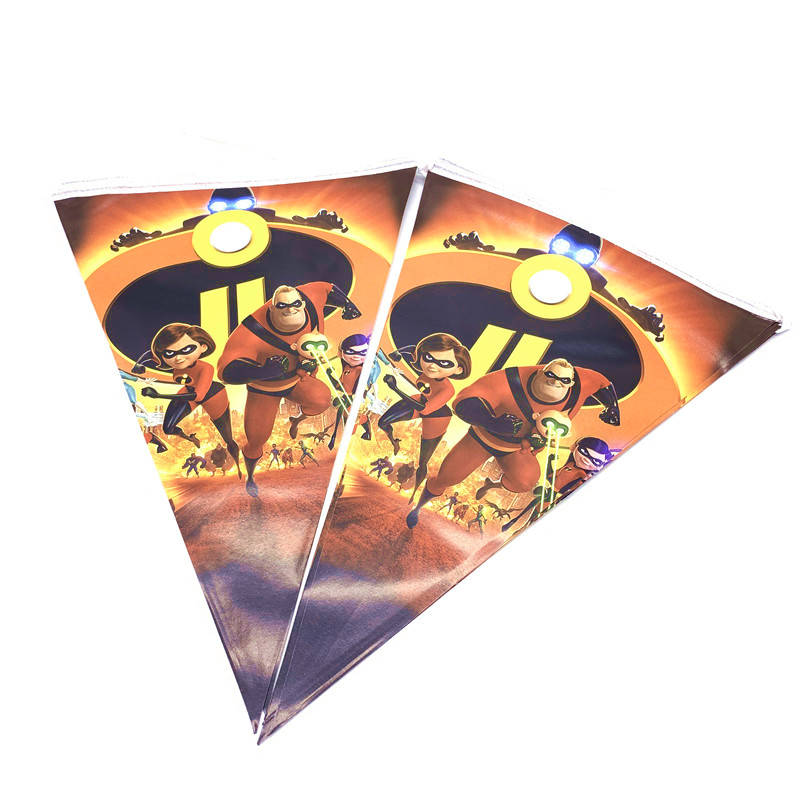 Disney The Incredibles 2 Theme Supplies Set For Kids Boy Birthday Party Decor Supplies Plates Cups Flags Straws 40 LOT SET in Disposable Party Tableware from Home Garden