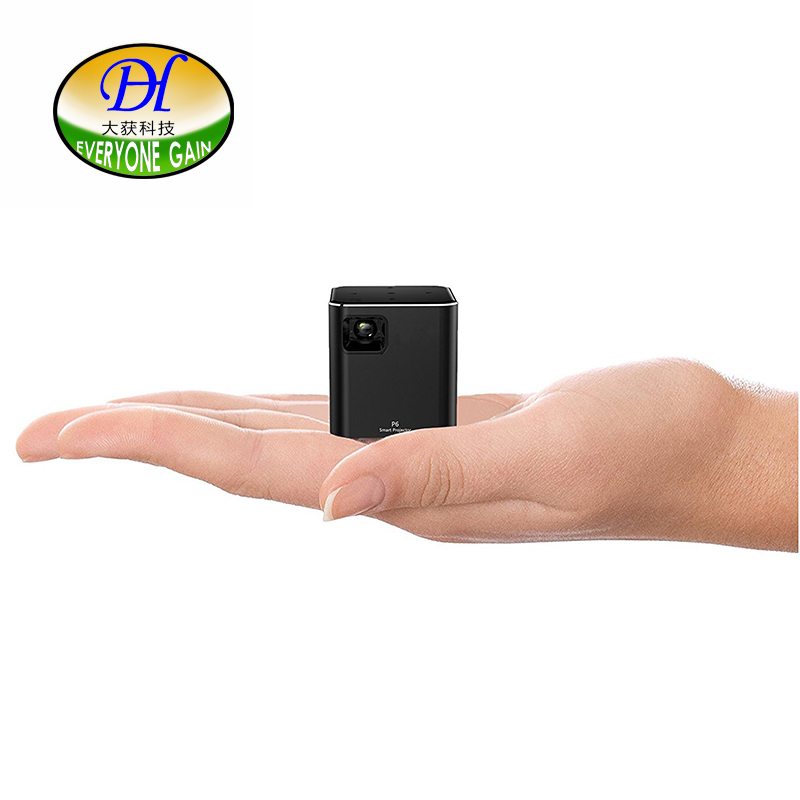 Everyone Gain A6 DLP 3D LED Mini Projector Wifi Android Digital Hand Projecteur HD Wifi Airplay Home Movie Theater Video Beamer цена