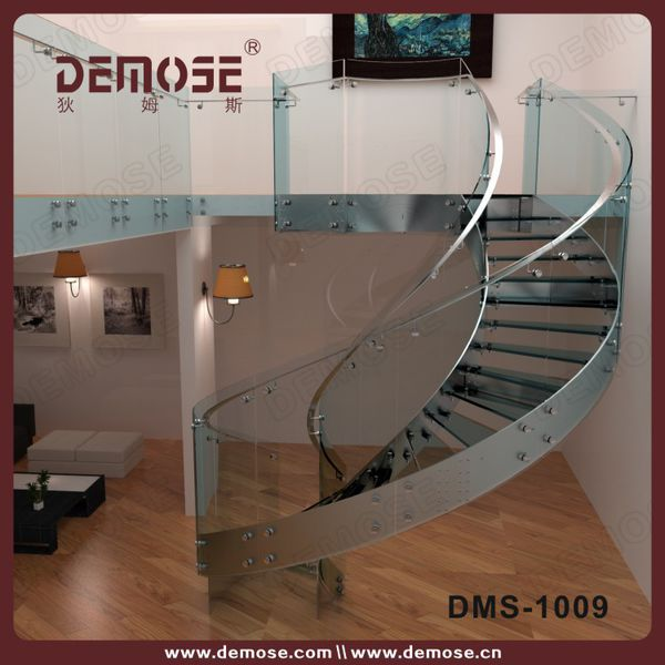 Custom Stainless Steel Glass Spiral Stairs Stairs Stainless Stair   Spiral Staircase With Glass Railing   Metal   Residential   In India Staircase   Contemporary Glass   Thin Glass