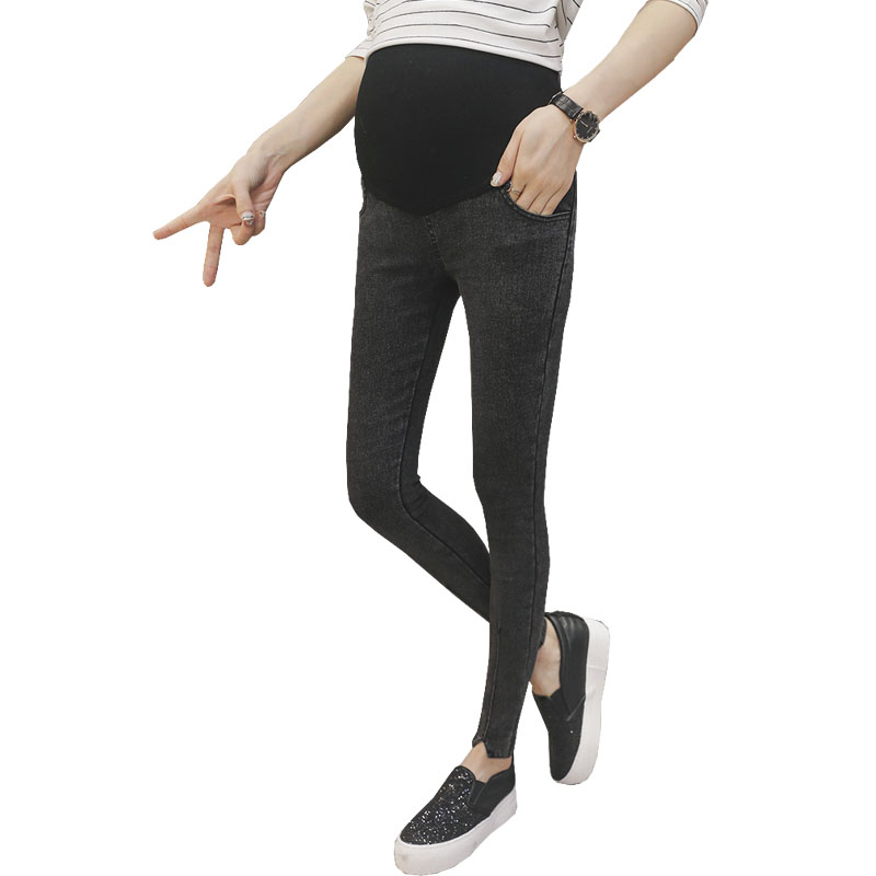 a7d04fdf7c74b Abdominal Pregnancy Pants Maternity Jeans Stretch Leggings Ropa Premama Gravida  Wear Trousers For Pregnant Women Belly Pants