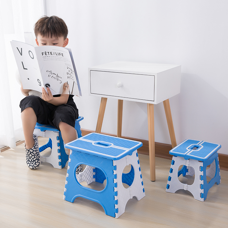 Portable Folding Child Stools Thicken Plastic Adult Stool Outdoor Sitting Sports Camping Home Convenient Folding Step Stool