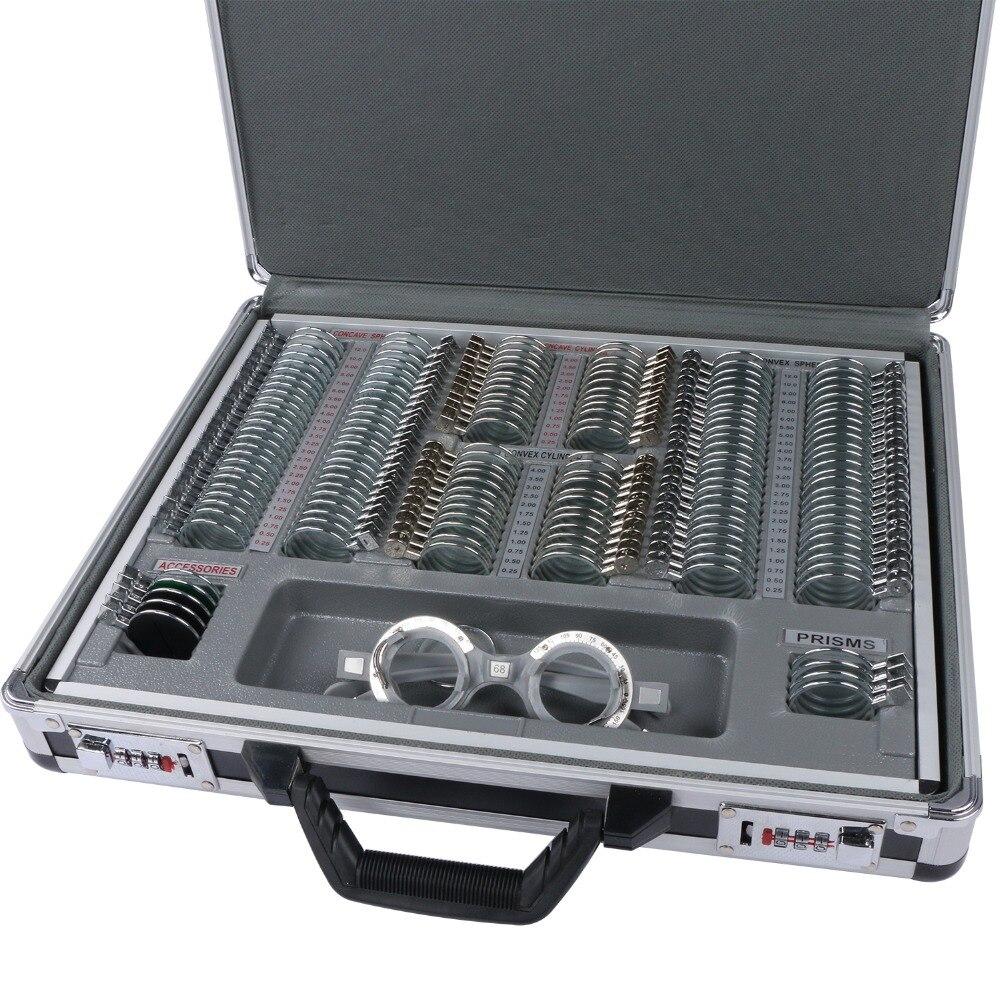 158 шт. набор оптических пробных линз металлический обод + алюминиевый корпус + Бесплатная пробная рамка