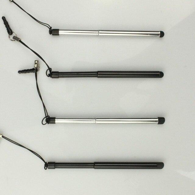 Bolígrafo de pantalla táctil Universal retráctil lápiz óptico capacitivo para tableta de teléfono inteligente para iPad punta fina redonda para iPhone