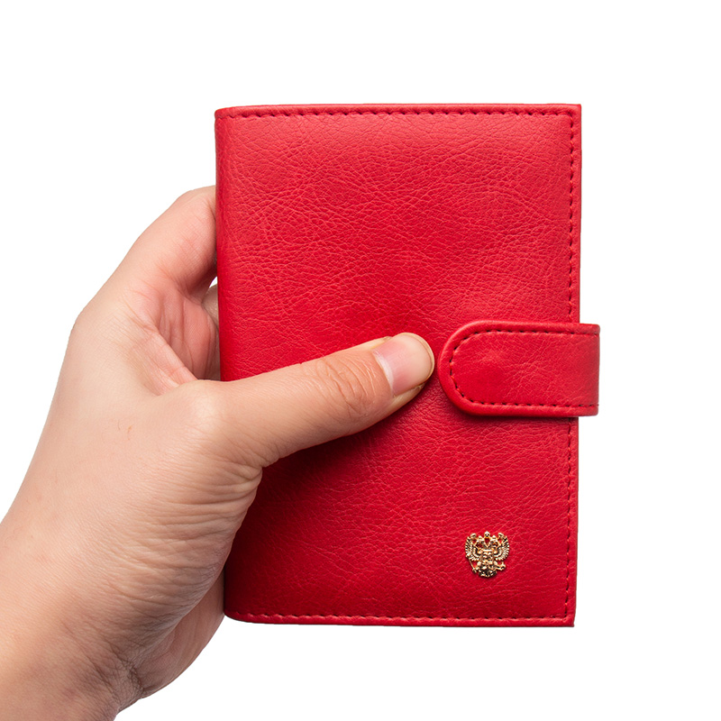 Card & Id Holders Back To Search Resultsluggage & Bags Russian Fashion Color Mixing Double-headed Eagle Pu Leather Passport Holder Built In Rfid Blocking Protect Personal Information