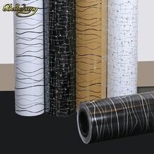 Beibehang papel tapiz autoadhesivo impermeable para pared de vinilo, 60X500cm, líneas onduladas, bricolaje, Adhesivo de pared de vinilo para muebles de cocina