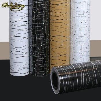 beibehang 60X500cm Wavy Lines DIY Decorative Films Waterproof Self-adhesive Wallpaper kitchen furniture vinyl sticker wall paper