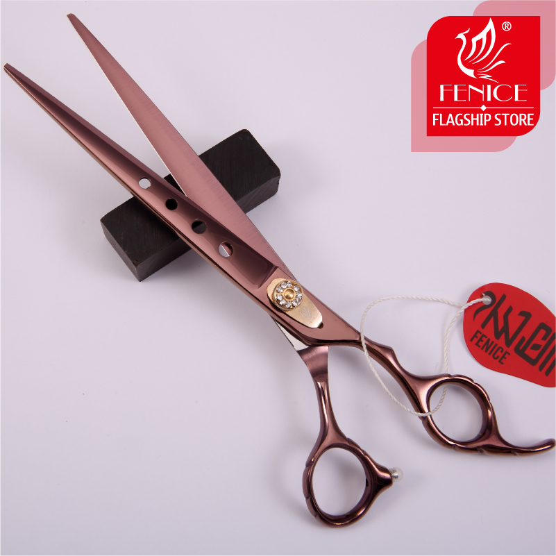 Fenice 7.0 7.5 8.0 inch professional JP440C pet dog cat grooming cutting scissors straight shears tesoura de tosa fenice