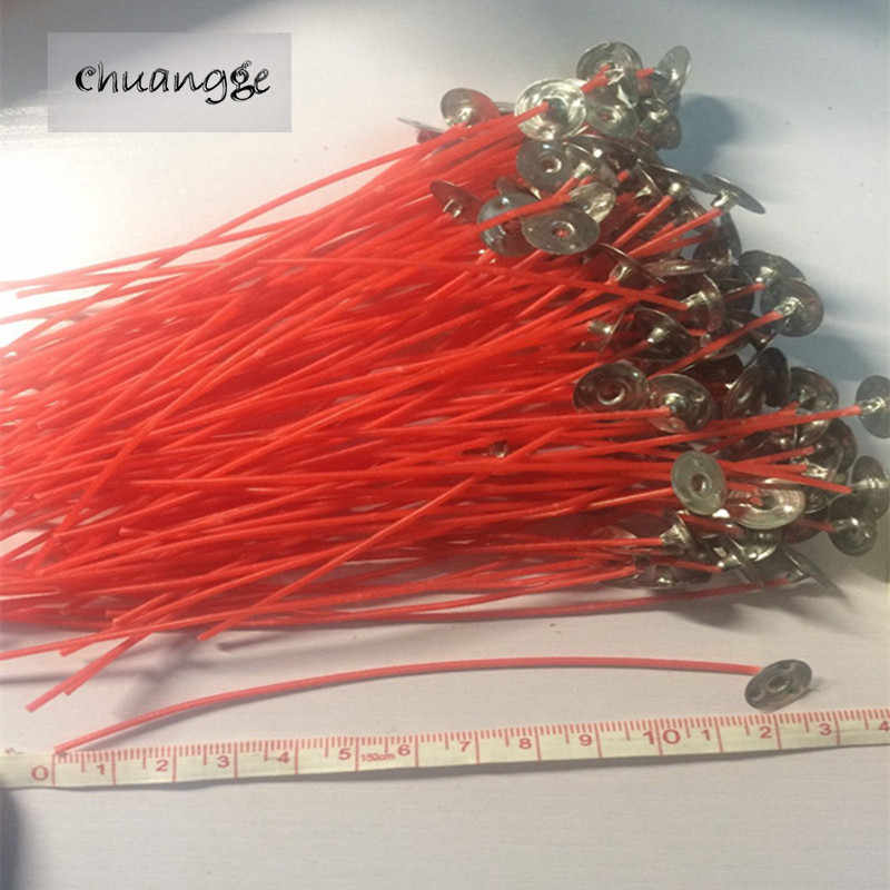 50/100pcs 12cm Lamp Wick Pre Colorful Unique Red Soy Wax Quality Candle Wicks Cotton Core Waxed for DIY Candles Making Gifts