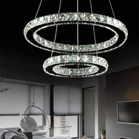 Modern LED Crystal Chandelier Lights Lamp For Living Room Cristal Lustre Chandeliers Lighting Pendant D40 60CM