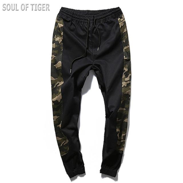 Militar de camuflagem Calças de Grife 2017 Marca Mens Calças De Compressão Homens Sweatpants Corredores Pantalones Chandal Hombre Casuais