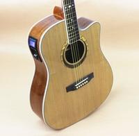 Guitar Acoustic Electric Steel String Balladry Folk Pop Flattop 41 Inch Picea Asperata Guitarra 6 String Light Cutaway Electro