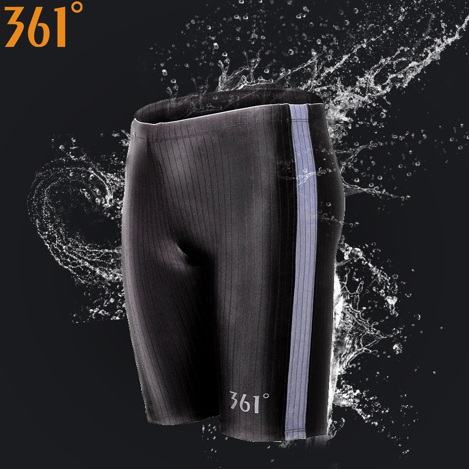 361 Men Swimsuit Plus Size Tight Swimming Trunks Quick Dry Pool Swim Shorts Training Swimwear For Boys Competition Swim Jammer