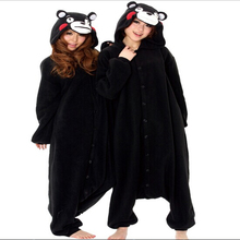 Super Natural Hot Sell Boys Girls Spring Black Kumamon Bear Pajamas Onesie Animal Party Cosplay Costume Cartoon Anime Pyjamas