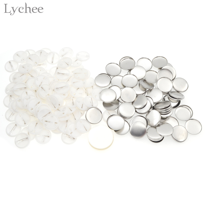 Lychee Metal Blank Pin On Badge Supplies For DIY Badge Craft Handmade Needwork Sewing Material Accessories