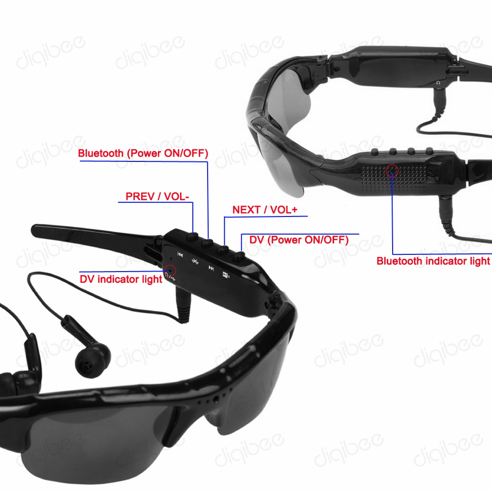 Mikrofonlu eynək kamerası ilə çox funksiyalı MP3 Bluetooth - Kamera və foto - Fotoqrafiya 4
