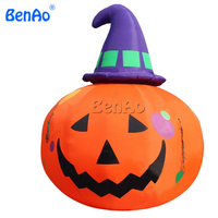 H040 BENAO 3m high Inflatable Outdoor Pumpkin with Witch Hat Halloween Yard Decor Seasonal,inflatable pumpkins.
