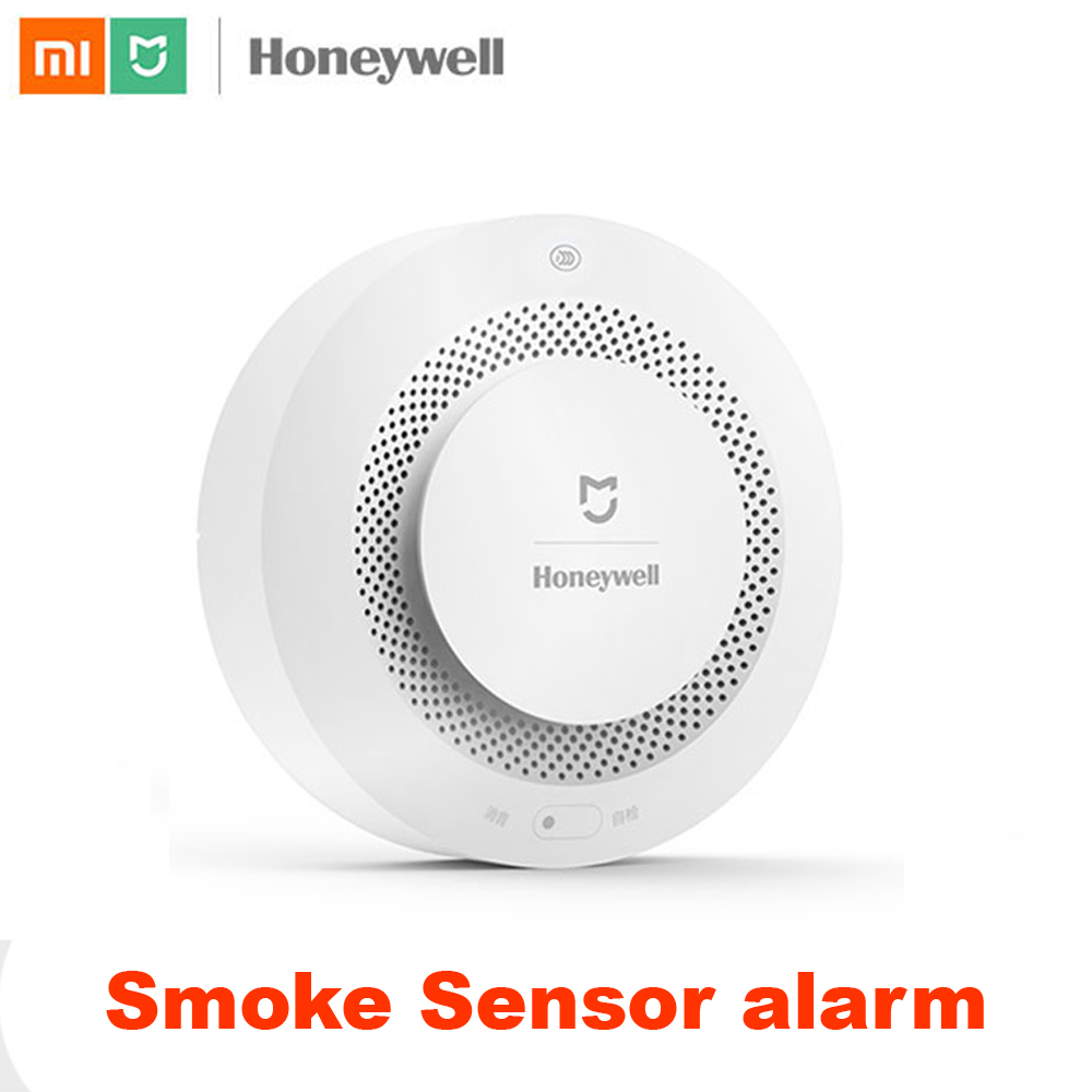 100% Xiaomi Mijia Honeywell Smoke fire sensor Alarm Detector Audible Visual Smoke Sensor Remote Mi Home Smart APP Control